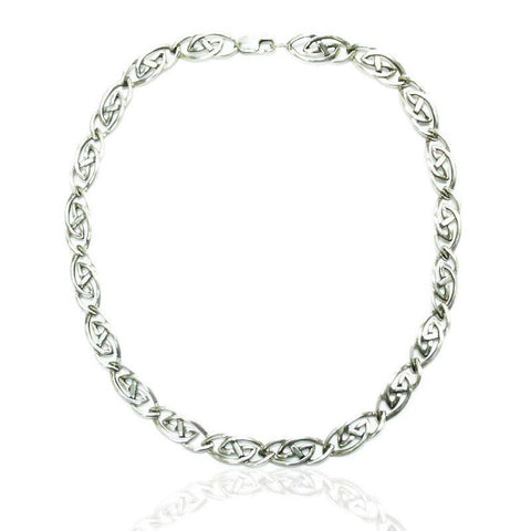 Celtic Links Necklace in Silver