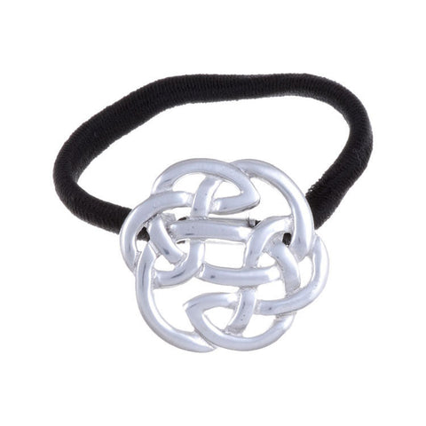 Celtic Lughs Knotwork Hair Band in Pewter