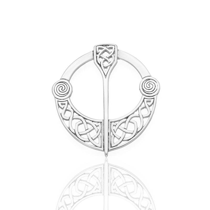 Celtic Penannular Brooch In Silver