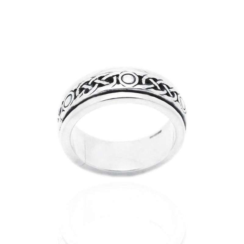 Celtic Pleat Design Ring in Silver