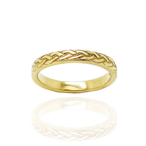 Celtic Pleat Pattern Ring in Gold