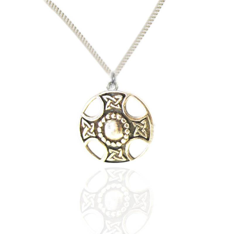 Celtic Shield Pendant in Silver