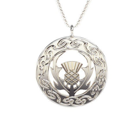 Scottish pendants necklets tappit hen gallery scottish celtic scottish thistle celtic flow pendant aloadofball Images