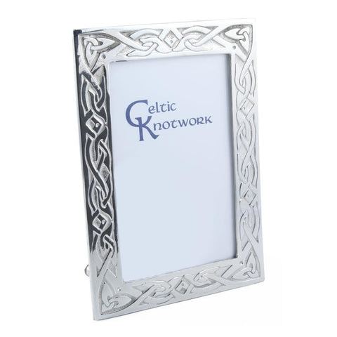 Celtic Trinity Knotwork Picture Frame In Pewter