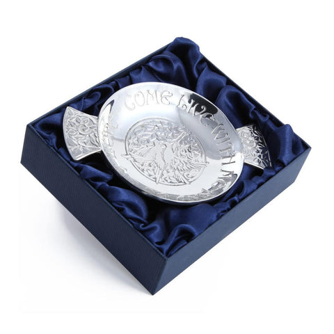 Come Live With Me Wedding Quaich In Pewter