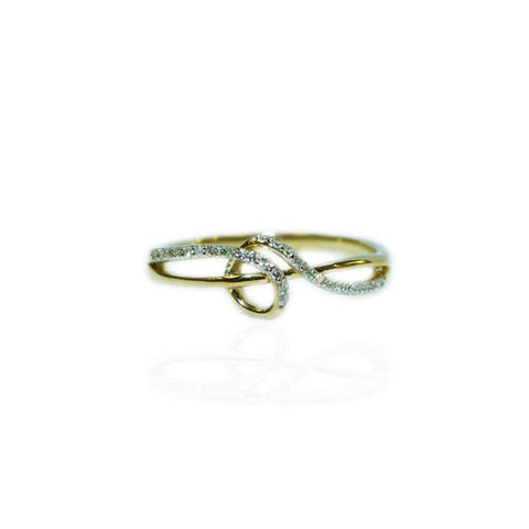 Diamond Celtic Twist Ring in Gold