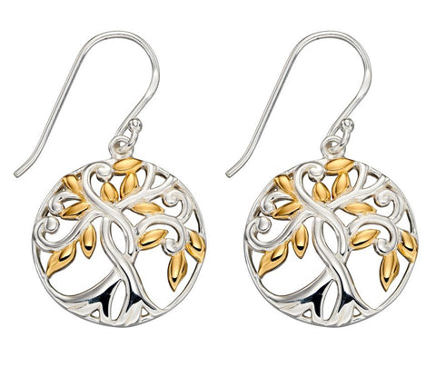 Majestic Tree of life Drop Earrings