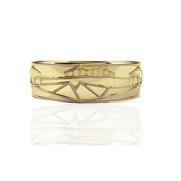 Edinburgh Castle Wedding Ring in Yellow Gold