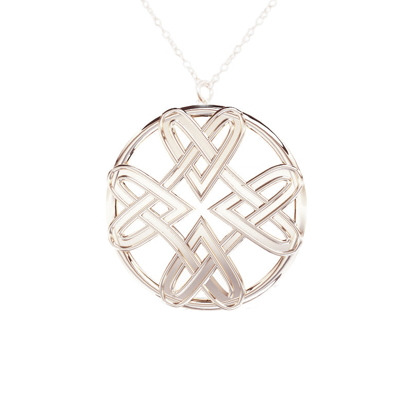 Four Heart Celtic Infinity Pendant