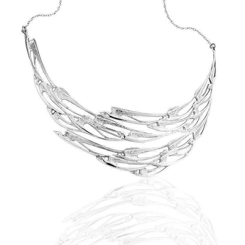 Flight of the Swallows Necklet in Silver