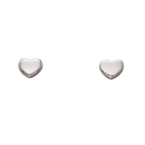Wee Gold Solid Heart Stud Earrings