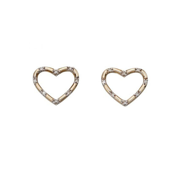 Gold Pave Set Diamond Earrings