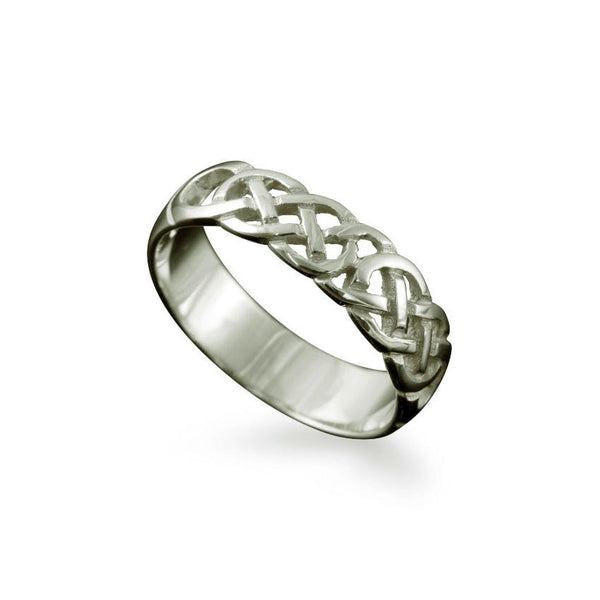 Havra Celtic Knotwork Ring Platinum