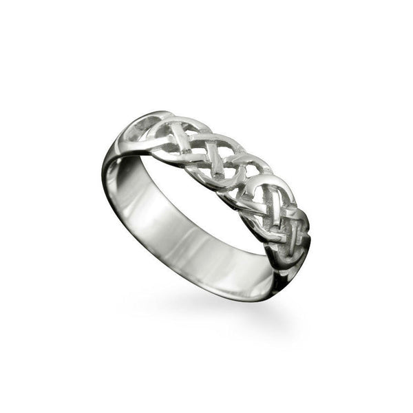 Havra Celtic Knotwork Ring Sterling Silver