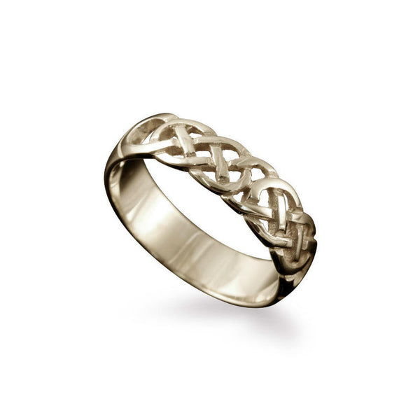 Havra Celtic Knotwork Ring White Gold