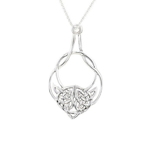 Sterling Silver Celtic Highland Cow Pendant