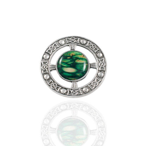 Heathergems Celtic Brooch In Pewter