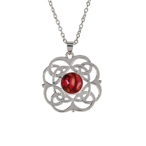 Heathergems Celtic Knotwork Pendant Necklace In Silver