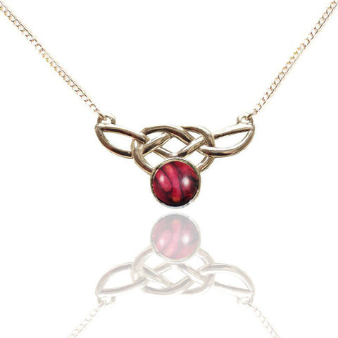 Heathergems Celtic Pendant Necklace In Silver