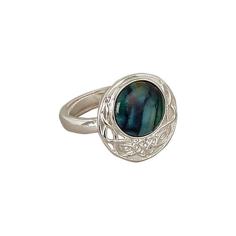 Heathergems Comrag Celtic Knotwork Ring in Silver
