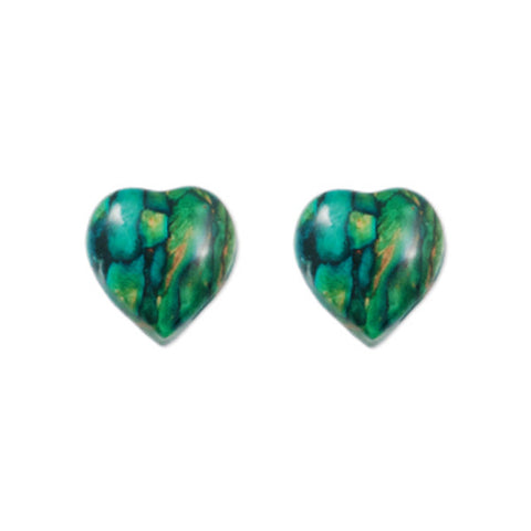 Heathergems Heart Stud Earrings In Silver