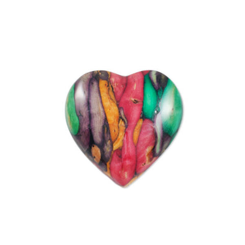 Heathergems Large Heart Brooch In Silver