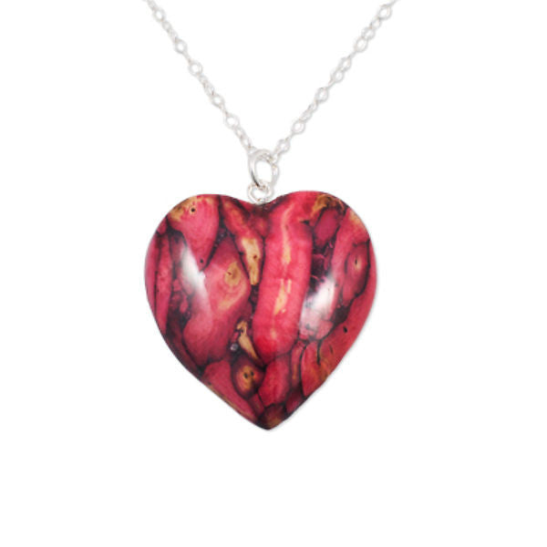Heathergems Medium Heart Pendant Necklace In Silver