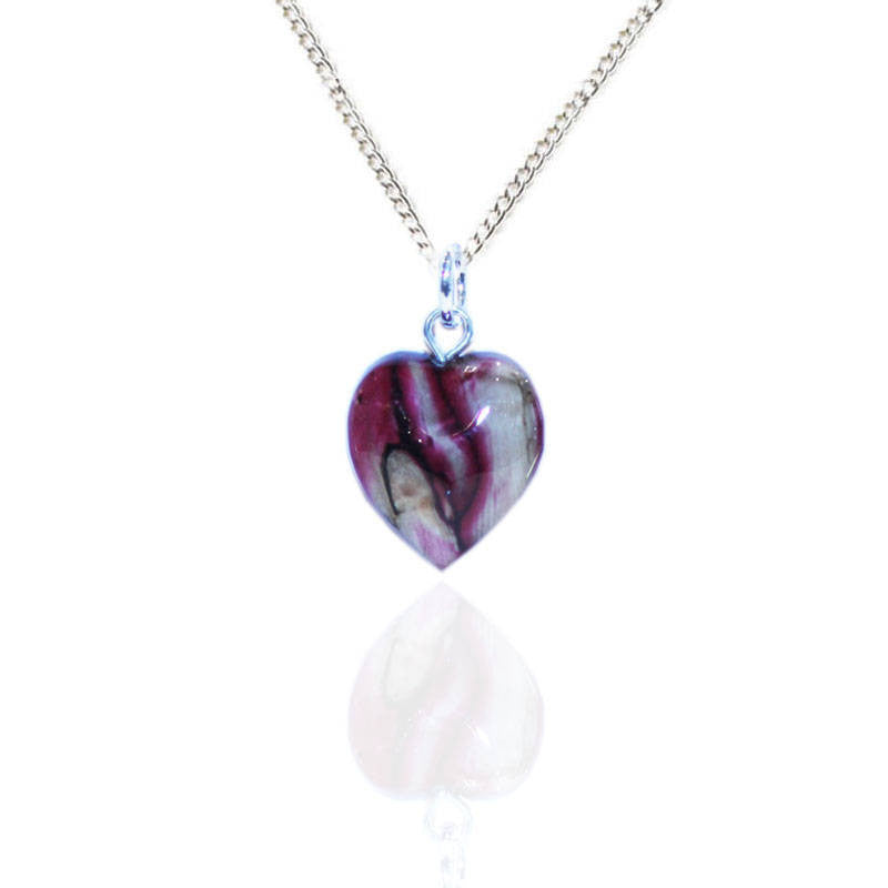 Heathergems Micro Heart Pendant Necklace In Silver