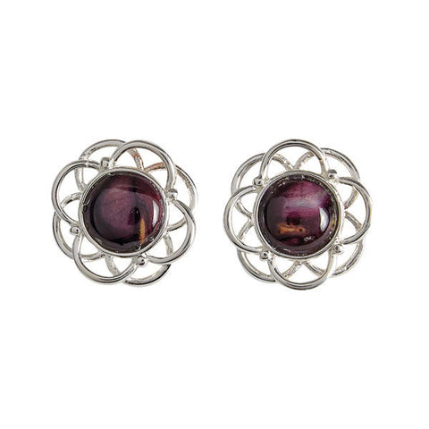 Heathergems Mor Stud Earrings In Silver