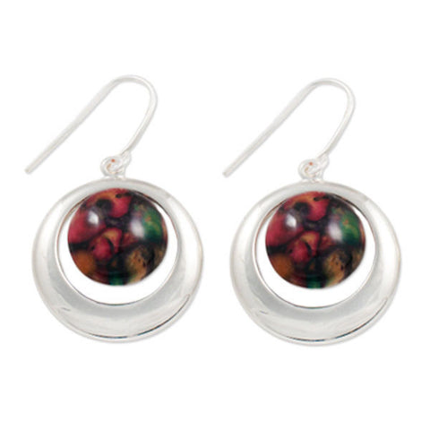 Heathergems Open Circle Earrings In Silver