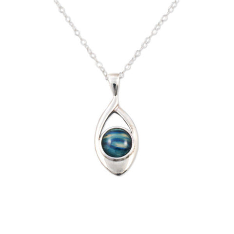 Heathergems Open Oval Pendant Necklace In Silver