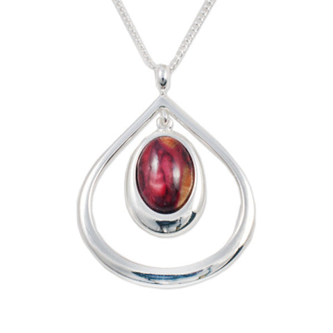 Heathergems Open Tearlach Pendant Necklace In Silver