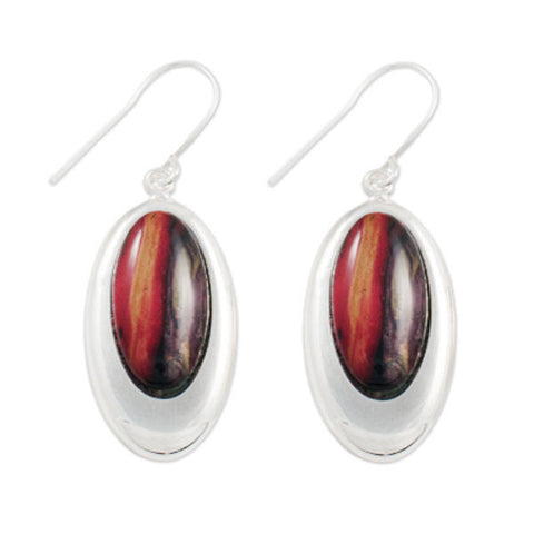 Heathergems Oval Earrings In Silver