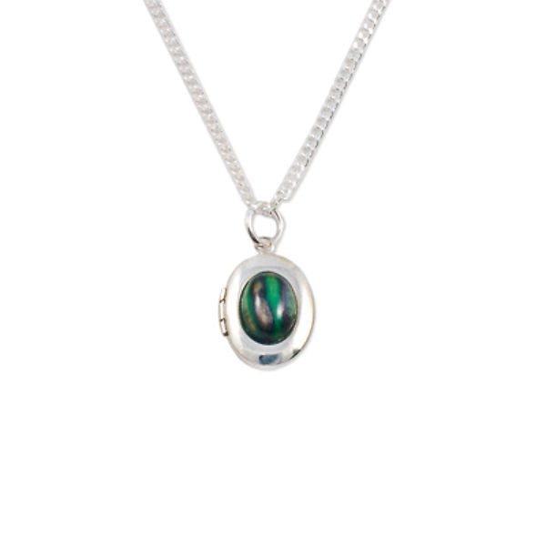 Heathergems Oval Locket Pendant Necklace In Silver