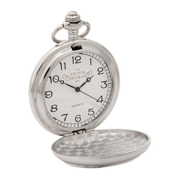 Heathergems Quartz Pocket Watch Pewter Open Face