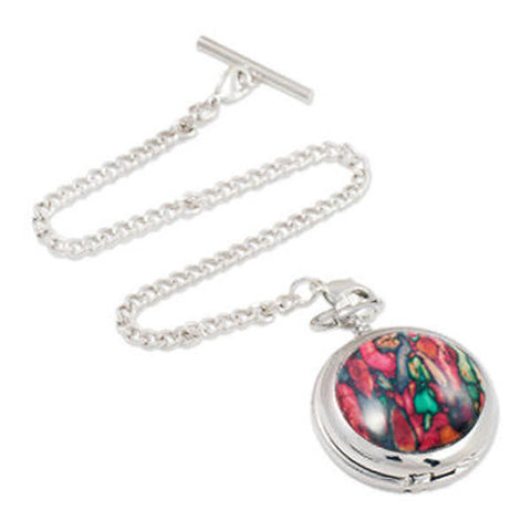 Heathergems Quartz Pocket Watch in Pewter