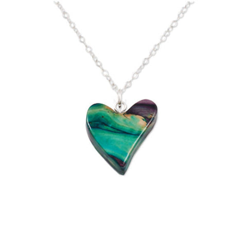 Heathergems Quirky Heart Pendant Necklace In Silver