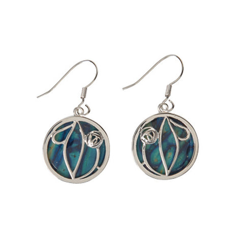 Heathergems Rennie Mackintosh Rose Earrings In Silver