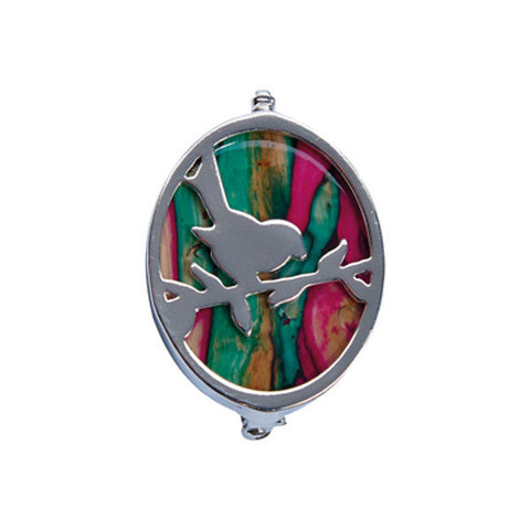 Heathergems Robin Brooch In Silver