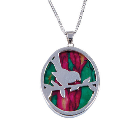 Heathergems Robin Pendant Necklace In Silver