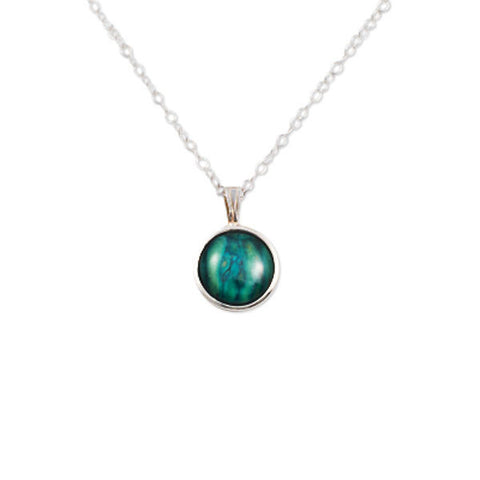 Heathergems Set Round Pendant Necklace In Silver