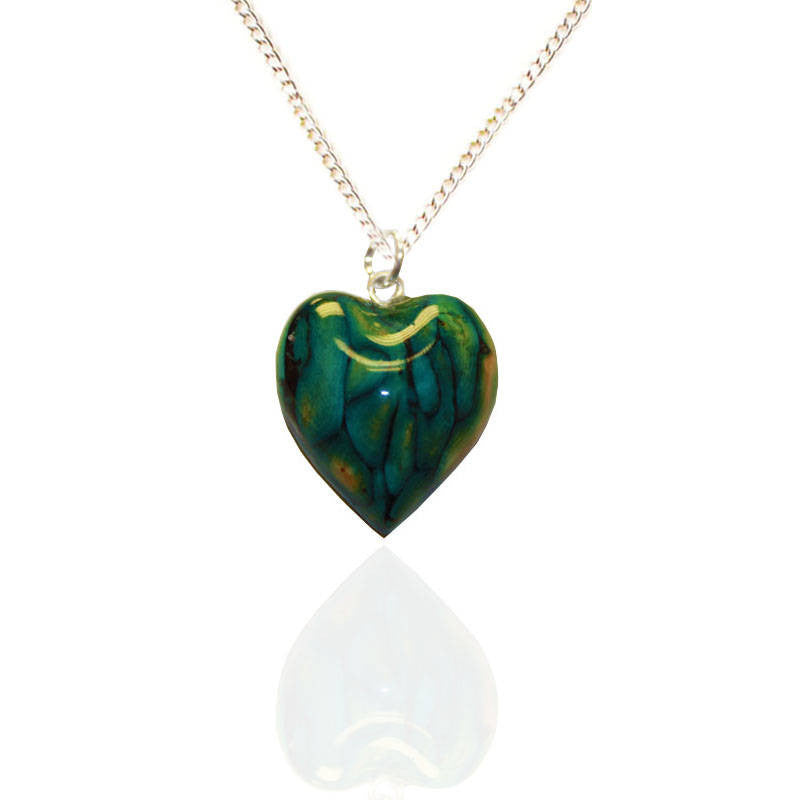 Heathergems Small Heart Pendant Necklace In Silver