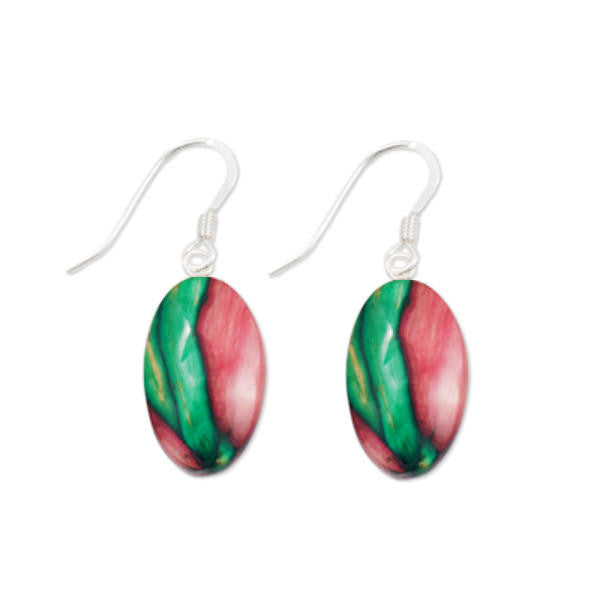 Heathergems Small Oval Drop Earrings In Silver