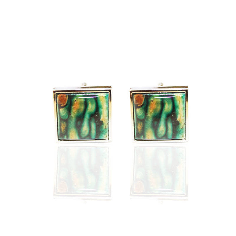 Heathergems Square Cufflinks In Silver