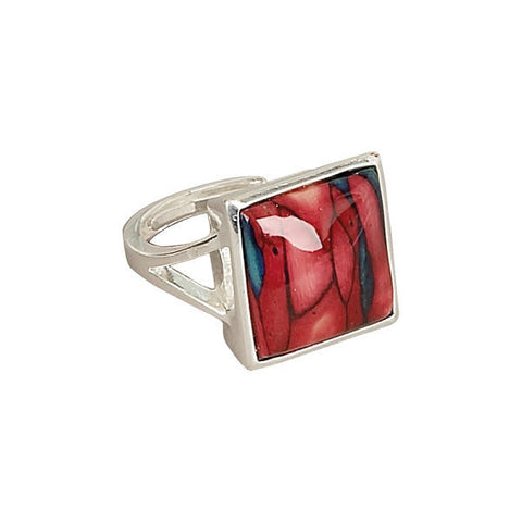 Heathergems Square Set Ring in Silver