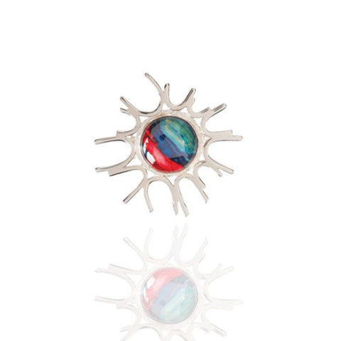Heathergems Starburst Brooch In Silver