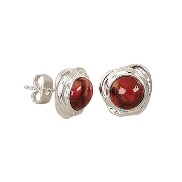 Heathergems Swirl Stud Earrings In Silver