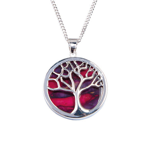 Heathergems Tree of Life Pendant Necklace In Silver