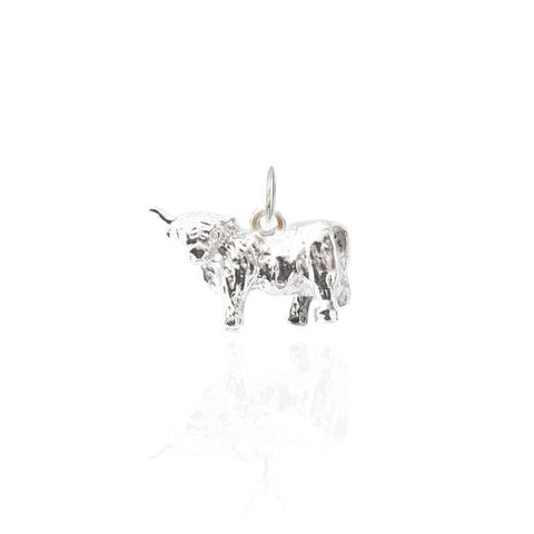 Highland Cow Charm in Silver