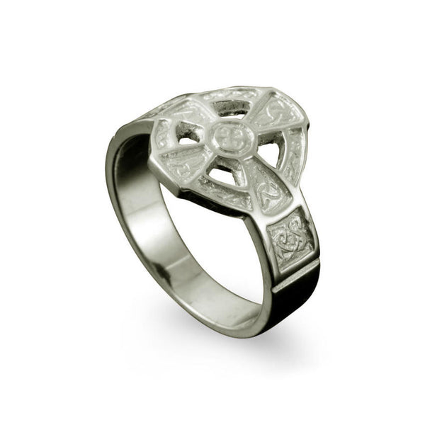 Hildasay Celtic Cross Ring in Platinum